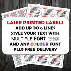 100 x Personalised ANY COLOUR Printed Sticky Address Labels Stickers