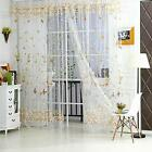 Butterfly Voile Window Curtain Door Balcony Sheer Curtain Panel Valances Drapes