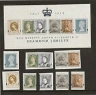 GB 2012 diamond jubilee MS 3272 and all the individual note and coin stamps MNH
