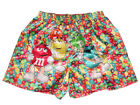 NWT M&M'S M&M CANDY CHOCOLATE SATIN SILKY BOXER SHORT UNDERWEAR M, L, XL