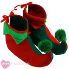 Adult Elf Boots Pixie Shoes Christmas Fancy Dress Costume Accessory Gnome Xmas