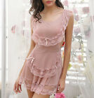 Sexy Babydoll LINGERIE pink Maids type outfit 8 10 12