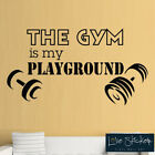Gym Playground Weights Fitness Inspiration Wall Art Stickers Decals Vinyl Home