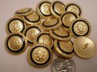 New lots Gold Military Metal Buttons crested 5/8 ,11/16, 13/16, 7/8    #G8