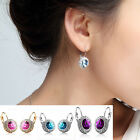 Hot Fashion Women Silver Gold Plated Crystal Rhinestone Dangle Ear Stud Earring