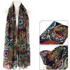 Women Lady Chiffon Print Silk Long Neck Scarf Shawl Stole Wraps Pashmina Scarves