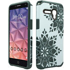 For Alcatel ONETOUCH Fierce XL HARD Hybrid Rubber Silicone Case Phone Cover