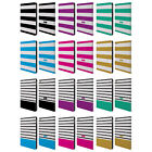 OFFICIAL COSMOPOLITAN STRIPES COLLECTION LEATHER BOOK CASE FOR APPLE iPAD