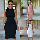 Womens Sleeveless Bandage Sexy Bodycon Evening Party Cocktail Dress Club Dress