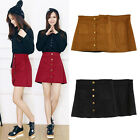 Women Sexy Faux Suede High Waist A-Line Hope Slim Skirt With Safety Shorts Pants
