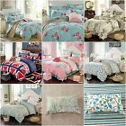 Lovely Floral King Queen Size Bed Quilt/Duvet/Doona Cover Set New Cotton Linen