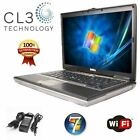Fast Dell Laptop Latitude Core 2 Duo 4GB WIFI Win 7 DVD CDRW Computer Notebook