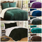 Chezmoi Collection Micromink Sherpa Reversible Down Alternative Comforter Set