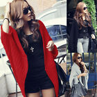 2016 New Women Fashion Bat Sleeve Loose Cloak Knitting Shirt Cardigan Coat Tops