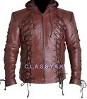 Classyak Men Fashion Arrow Arsenal Leather Jacket All Sizes