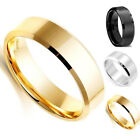Hot Simple UnisexTitanium Band Brushed Wedding Stainless Steel Solid Smooth Ring