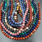 "Natural Gemstone Round Spacer Loose Beads 6mm 15"" - 16"" Lot Pick Stone Jewelry"
