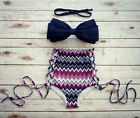 Vintage Push up Pin Up High Waisted Women Bikini Swimsuit Beachwear Swimwear