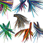 25 Real Feather Hair Extensions: 7-9 inch RINGS INCLUDED - Choose colour mix