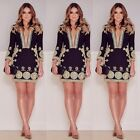 New Fad Women Sexy Lace Patchwork Deep V-neck Work OL Pencil Mini Party Dress