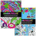 COLOUR THERAPY ADULT COLOURING BOOK 64 PAGE ANTI STRESS ZEN ART CALM