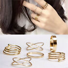 New Unique Ring Set Punk Alloy Knuckle Rings for Womens Finger Ring 6X Rings FM