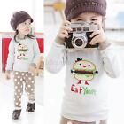 Cute Toddler Boys Girl Hamburger Dots Long Sleeve Shirts+Pants Homewear Clothing