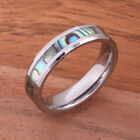 Tungsten Carbide with Abalone Shell Ring Comfort Fit 5mm