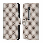 HEAD CASE DESIGNS CUSHIONS LEATHER BOOK WALLET CASE COVER FOR MOTOROLA PHONES