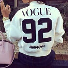 New Women Vogue 92 Printed Coat Jacket 2015 Casual Short Cardigan Baseball Coat