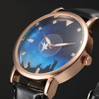 5 Colours Womens Ladies Pegasus Rose Golden Case Quartz Wrist Watch Gift