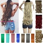 """Hot 24""""26"""" One Piece 5 Clip in Synthetic Natural Hair Extensions Long Curly qgr"""