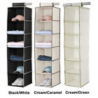 5/6 Shelf Tier Hanging Organiser Wardrobe Clothes Tidy Shoes Socks Storage New