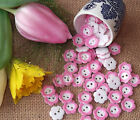 10 x Daisy Flower Buttons  - choice of 3 sizes - 7 colours-