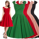 BP STOCK VINTAGE RED 50's 60s RETRO PINUP PARTY PLUS SIZE SWING DRESS