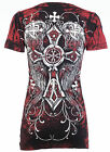 Rebel Saints BY AFFLICTION Womens T-Shirt STORY TELLER Tattoo Biker Sinful $40