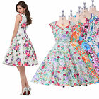 GK floral 50's Vintage Inspired Pinup Party Prom Cocktail Swing Dress