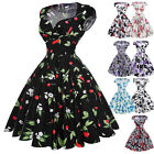 Womens Vintage Rockabilly Ladies Swing 50s Style Pinup Prom Cocktail Party Dress