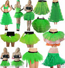 New Ladies Girls St Patrick's day Green Tutu Skirt Fancy Dress Layered Skirts