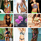 Women Sexy Strappy Swimsuit Swimwear Bathing Monokini Push Up Padded Bikini Set