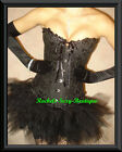 Sexy Black Corset+Tutu+Gloves+ThighHighs SET FROM NEW YORK S-2XL