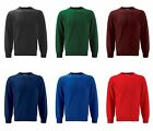 Blue Max Kids Classic Crew Neck Sweatshirt Children School Unifrom Sweat Jumpers