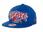 Quebec Nordiques Geo Block New Era 950 NHL Flat Bill Snapback Avalanche Hat Cap