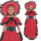 GIRLS SCARLETT O HARA FANCY DRESS COSTUME KIDS VICTORIAN OHARA OUTFIT SCARLET
