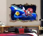 Super Mario Bros Galaxy Smashed Wall Decal Removable Wall Sticker Mural H194