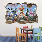 POWER RANGERS DINO SUPER CHARGE Smashed Wall Decal Removable Wall Sticker H207