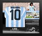Maradona Signed Argentina Shirt on Large Bill Board Frame