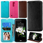 For LG K7 / Tribute 5 Premium Wallet Case Pouch Flap STAND Cover Accessory