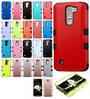 For LG K7 / Tribute 5 IMPACT TUFF HYBRID Protector Case Skin Cover +Screen Guard