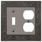 Wall Switch Plate Cover English Garden Antique Nickel Outlet Toggle Rocker Cast